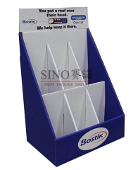 Stationery store counter top cardboard display