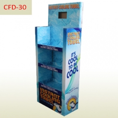 POP LCD playing supermarket cardboard Display rack