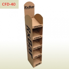 Protein bar retail Cardboard shelves display stand