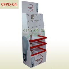 Wholesale cardboard pegs and shelves display stand