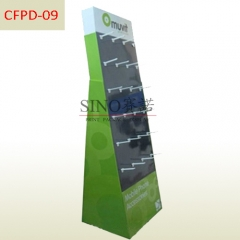 Mobile phone accessories cardboard floor pegs display stand