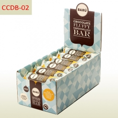 Energy bar cardboard counter display box