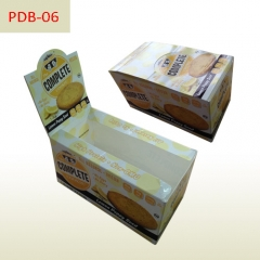 Biscuit paper packaging box and counter display