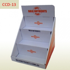 Nutrients 3 tiers Cardboard counter display stand