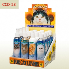 Cat grooming products foldable cardboard counter display