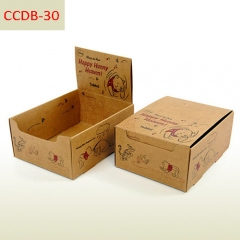 Cardboard packaging box and counter display box