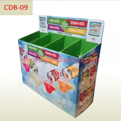 POP Cardboard Dump Bin for supermarket sales promotion