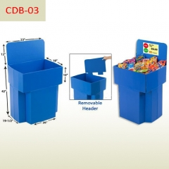POP Snacks Supermarket Retail Display Cardboard Dump Bin