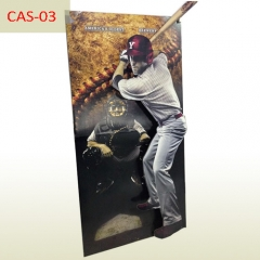 Full Color Printing man size corrugated Cardboard cutout POP Standee