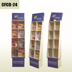 Children book retail Cardboard Display stand with removable header