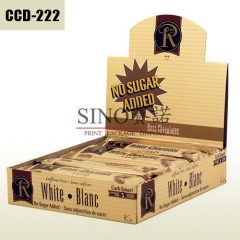 White Chocolate bar cardboard packaging box and display box