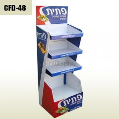 Chips and Crisp sales promotion cardboard floor display stand